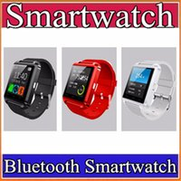 1X Bluetooth Smartwatch U8 Uhr Smart Watch Armbanduhren für iPhone 4 4S 5 5S Samsung S4 S5 Note 2 3 HTC Android Phone mit Paket A-BS