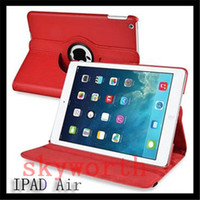Wholesale Mini Smart Cases - For iPad Pro 9.7 10.5 2017 air 2 3 4 5 6 Mini Magnetic 360 Rotating leather case Smart cover Stand