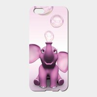 Elefant Iphone Hüllen Rosa Kaufen -Für iPhone 6 6S Plus SE 5S 5C 4S iPod Touch 6 5 Hard PC rosa Elefanten Telefon Fällen