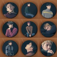 insignia kpop al por mayor-Youpop Kpop coreano EXO EXO-K EXO-M 2016 Winter Special Album For Life Pins Accesorios K-POP Broches