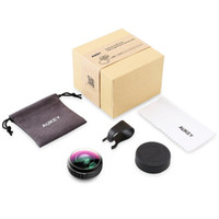 Wholesale Field View Camera - AUKEY PL-WD02 Optic Pro Super Wide Angle Cell Phone Camera Lens Kit High Clarity 238 Field of View 0.2X Zoom Magnification for iPhone