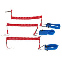 3pcs Elastic Coiled Paddle Leash pour Kayak Canoe Rowing Boat Safety Rod Leash Kayak Accessoire Stretch 1.45M
