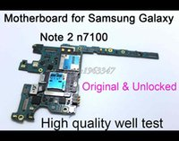 Wholesale Version Galaxy Note - Wholesale-Europe Version Original & Unlocked Mainboard For Samaung Galaxy Note 2 N7100 Motherboard With Full Chips Logic Board