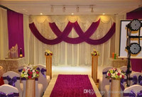 Wholesale Cake Table Swags - wedding Drape & stand set wedding curtain with silver swag stand with telescopic rods wedding backdrop with drape and backdrop frame