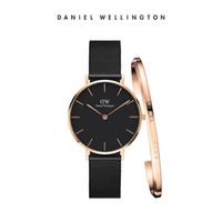 Wholesale New Bracelet Watches - New Daniel watches 32mm Women Watches Montre Femme Luxury Brand Quartz Watch With Bracelet Reloj Mujer Female Clock Relogio