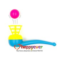 April Fool's Day blow bags - 12 Floating Ball Game Kids Gift Toys Kids Party Favor Blow Pipe Balls Pinata Toy Party Loot Bag Fillers Birthday Party Game