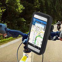 sacoche pour vélo achat en gros de-Livraison Gratuite Imperméable À L'eau Moto Vélo Mount Téléphone Titulaire Sac Cas Mobile GPS Support Pour iPhone 6 6 S pour Samsung Galaxy S3 S4