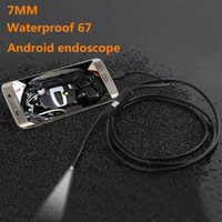 Endoscope Pour Téléphone Mobile Pas Cher-HD 130W pixels 7mm caméra endoscope étanche 1M 5M Android mobile Téléphone Inspection endoscope 6LED