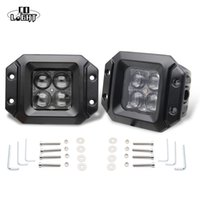 Proiettore 2Pcs 20W 2000Lm Spot Flood Beam Flush Mount Pod Luci da lavoro per Off Road 4X4 Ford Jeep Car-Styling