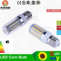 Wholesale Led Corn E27 22w - B22 E27 E26 E14 GU10 LED Corn Bulbs 5050 SMD 18W 56LED 22W 69 LEDs 1650LM 360 degree LED bulbs