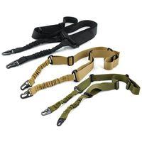 kits de rifle al por mayor-Nylon multifunción Ajustable de dos puntos Tactical Rifle Sling Caza Correa de pistola Al aire libre Airsoft Mount Bungee System Kit Cinturón