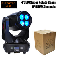 Wholesale Led Filters Light - Gigertop TP-L679 Super Beam 4*25W Led Moving Head Light ERA Stage Lighting Color Wheel Yellow Purple Blue Filter Fast Smooth