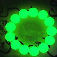Wholesale Tibetan Dzi - Tibetan Luminous Stone Old Dzi Bead Amulet Stretch Bracelet 16mm