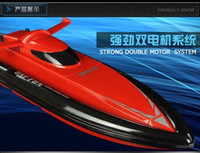 Wholesale Large Electric Rc Boats - Wholesale-2016 Hot Sell New 40cm large scale RC boat 2.4G RC boat Infinitely variable speeds high speed racing boat Best festival Gift