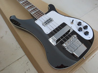 Rare Electric Bass RICken 4 Cuerdas Negro 4003 Bajo Eléctrico Guitarra Cromo Hardware Triangle MOP Fingerboard Incrustación Awesome China Guitars