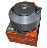 Wholesale Heating Pot - Wholesale-Bulin 1.1L Camping Kettle Heat Exchanger Tea Pot Picnic Kettle BL200-L1