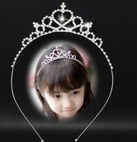 Wholesale Crowns Tiaras Childrens - Childrens crown Baby Hair Bows Girls Tiaras Kids Hairpin Children Hair Accessories Kids Hair Hair Bows Baby Hair Accessories FJ25