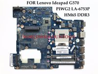 Wholesale Lenovo Ideapad Motherboards - Wholesale PIWG2 LA-6753P for Lenovo Ideapad G570 Laptop motherboard HM65 PGA989 DDR3 HD6370 512M Fully Tested Sellers Recommend