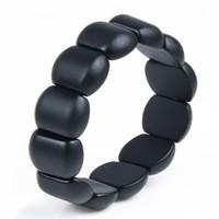 Wholesale Men Bracelet Jade - Wholesale-Real Black Bianshi Natural Bian Stone Bracelet For Men&Women Black Jade Bracelet or bianshi bracelet is High Quality