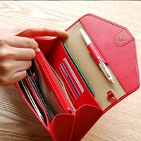 Top Quality Leather Wristlet Women Wallet Feminino Brand Embreagem Multifunction Long Purse Holder Telefone / Passport Lady Business Purse Z29