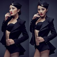 Wholesale Photo Ds - 2016 black photo studio photography theme clothing sexy stewardess individual owners artistic license DS stage show costumes