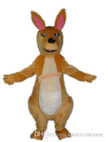 Wholesale Kangaroo Costume Sale - SX0725 With one mini fan inside the head a brown kangaroo mascot costume for adult to wear for sale