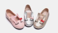 Wholesale Sleep Shoes - The spring and autumn of 2016 south Korean fashion sleeping rabbit leather shoes of the girls Nifty and rabbit shoes children of single prod