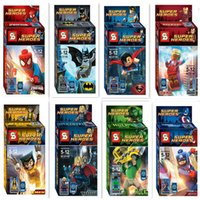 Iron Man Building Blocks Pas Cher-Nouveau style Super Hero Iron Man Hulk The Avengers Alliance Ensembles de blocs de construction Action Minifigures Jouets Bricolage Jouet éducatif