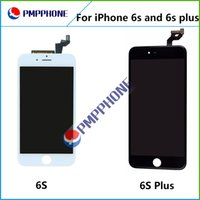 Wholesale Iphone Display Black - Black White LCD Display Touch Digitizer Complete Screen with Frame Full Assembly Replacement for iPhone 6S 4.7 6S Plus 5.5 Free Shipping
