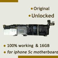 iphone motherboard mainboard großhandel-Großverkauf-Für Motherboard Mainboard 16GB des Iphone 5c 100% ursprüngliches 16GB gutes funktionierendes Mainboard voll mit Chips, entsperrtes Motherboard