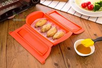 Wholesale Steamer Cook - Silicone Steam Case Steamer Kitchen Gadget Tool for Oven Microwave without Draining Tray