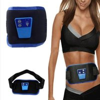 Wholesale Waist Slimming Gel - Electronic Gymnastic Device AB Muscle Exercise Toner Slim Fit Gymnic Arm Leg Abdom Waist Massager Body Shaper With Battery & Gel DHL 120pcs