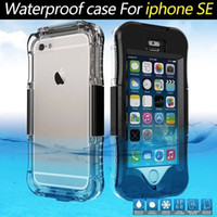 Wholesale military phone covers - For Iphone 7 7Plus 5 5S SE 6 6S Plus Army Military Sports Touch ID Waterproof Phone full Body protective Swimming Dive cover case 1pcs