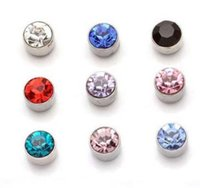 Wholesale Classic Costume Jewelry Wholesale - 50pairs lot Free shipping hot sale cosplay jewelry Magnetic earring studs Non pierced ear Costume accessories jewelley Cosply Stud earrings
