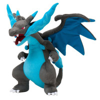 Wholesale Mega Cartoons - Poke mon Center Mega 23cm 9inches Charizard X Plush Doll Soft Stuffed Animal Toy Cartoon Christmas Gift