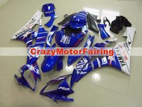 Wholesale yzf r6 fiat - 3 Free gifts New Injection ABS Fairing Kits 100% Fitment For YAMAHA YZF-R6 06-07 YZF600 2006 2007 R6 bodywork set blue white FIAT