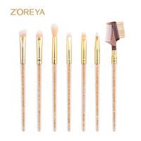 Wholesale Make Up Brushes Zoreya - Zoreya Brand Hot Sales 7Piece  Lots Profession Eye Brow Makeup Brushes Angled Shadow Make Up Brushes For Women Cosmetics Tools