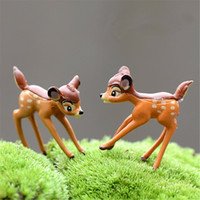 Wholesale Dollhouses China - Wholesale Realistic Christmas Decoration Garden Ornament Cute Miniature Deer Figurine Animal Fairy Dollhouse Plant Decor Accessories