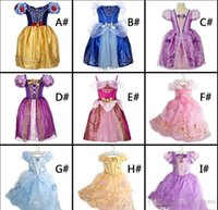 Wholesale Sleeping Beauty Dresses For Girls - Costume dress Belle sofia Cinderella Sleeping beauty Girls dresses Cosplay performance dress for Christmas Halloween party In Stock DHL