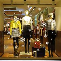 venta al por mayor nueva diy navidad snowflakes pared pegatinas tienda de vidrio de la ventana de tienda escuela de decoracin de pvc decalque de pared