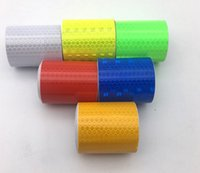 Wholesale Reflective Tape Strip - 3m*5cm reflective safety warning tape multi color Car Truck Bus Motorcycle Sticker stripe safety label Warning strip lattice dhl