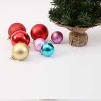 24PCS 3cm Glitter Chic Decor Ball Bauble Hanging Modern Albero di Natale Ball Baubles Xmas Party Wedding Hanging Ornamento Decorazione natalizia