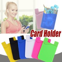 Wholesale silicon cellphone cases for sale – best Ultra slim Self Adhesive Credit Card Wallet Card Set Card Holder Colorful Silicon Cellphone Case For iPhone XS Sony LG Samsung Huawei Xiaomi