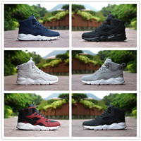 Wholesale Lace Fr - 2016 New Air Huarache 6 Running Shoes Huraches Breathe Trainers Ultra for Men High Ankle Outdoors Shoes Huaraches 4 Sneakers Size US 7-11 fr