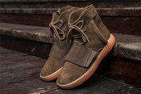 Wholesale Wholesale Boots Online - Boost 750 CLAIR MARRON Kanye West Classic Casual Shoes 2017 Cheap Online Wholesale LT.BROW BY2456 Outdoosr Sneaker Footwaer 750 Boosts