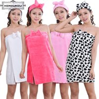 Wholesale Onesie Pyjamas - Wholesale- Dressing Gowns for Women Onesie Pyjamas Cute Bathrobe Nightgown Female Pajamas Girls Pijama Animal Indoor Clothing Free Topknot