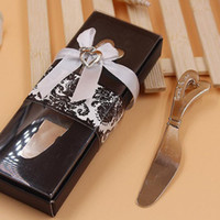 Wholesale Butter Spreads - Spread The Love Heart-Shaped Heart Shape Handle Spreaders Spreader Butter Knives Knife Wedding Gift Favors ZA4573