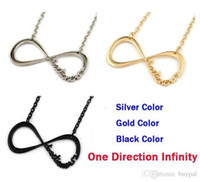 Wholesale One Direction Girls Accessories - Wholesale New Fashion accessories Number 8 One Direction Jewelry Hot sale Letter ONE DIRECTION 1D Chain Necklace Boy Girl RJ1960 0416dd