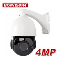 Wholesale Cctv Camera Optical Zoom - 4 inch HD 4.0MP Mini PTZ IP Camera Security Outdoor Night Vision Network Speed Dome 30x Optical Zoom CCTV PTZ IP Camera