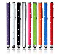 Wholesale Ps Apple - 9 Bling Package Styles cellphone Touch screen Tablet Pen for iPhone 5 5S 5C 4 4S 3G 3GS iPod Touch iPad 2 3 4 Air SONY PLAYSTATION PS Motor